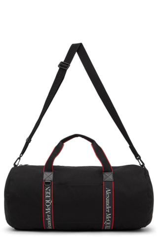 알렉산더 맥퀸 더플백 Alexander McQueen Black & Red Selvege Metropolitan Duffle Bag,Black/Red