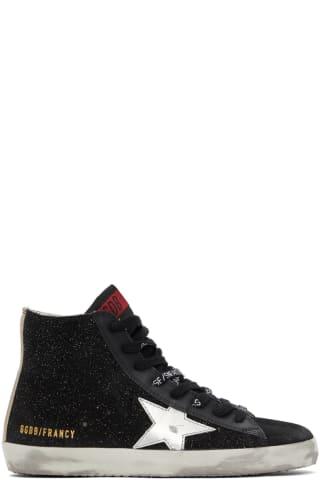 골든구스 Golden Goose Black Glitter Francy Sneakers