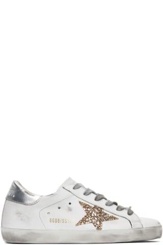골든구스 Golden Goose   White & Silver Superstar Sneakers