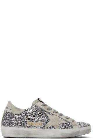 골든구스 Golden Goose   Silver Glitter Superstar Sneakers