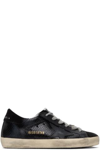 골든구스 Golden Goose   Black Python Superstar Sneakers