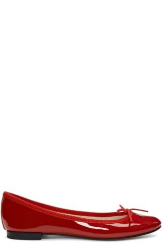 레페토 Repetto Red Patent Cendrillon Ballerina Flats