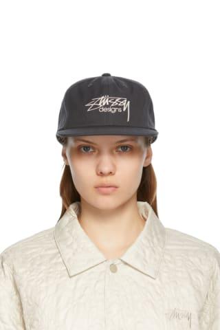 스투시 Stussy Grey Designs Cap,Charcoal
