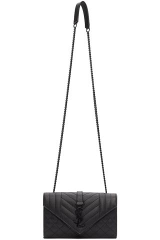 생 로랑 Saint Laurent Black Small Envelope Bag