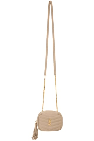 생 로랑 Saint Laurent Beige Baby Lou Chain Bag,Dark beige