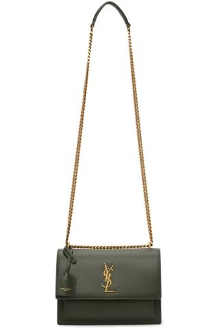 생 로랑 Saint Laurent Green Medium Sunset Bag,Olive