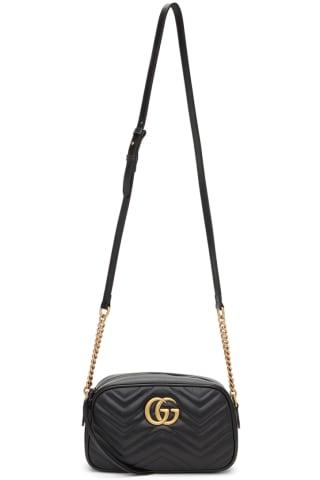 Gucci Black Small GG Marmont Camera Bag