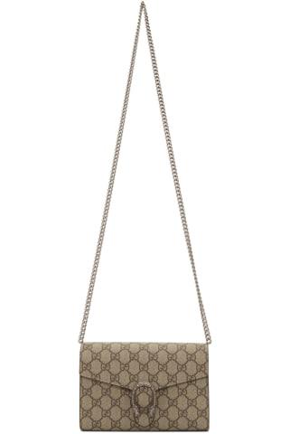 Gucci Beige GG Dionysus Wallet Chain Bag