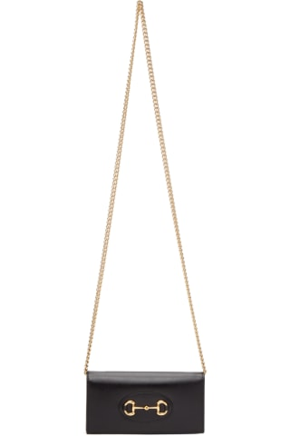 Black 구찌 Gucci 1955 Horsebit Wallet On Chain Bag