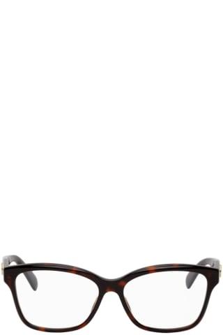 Gucci Tortoiseshell Square GG Glasses