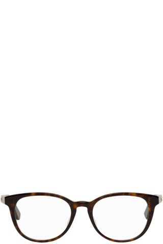 Gucci Tortoiseshell Rectangular Glasses