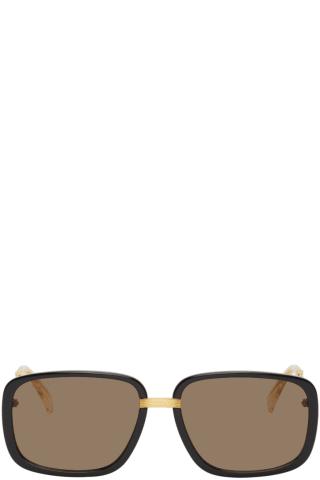 Gucci Black & Gold GG0787S Sunglasses