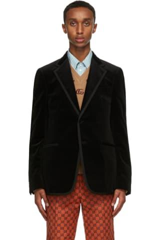 Gucci Black Velvet Blazer