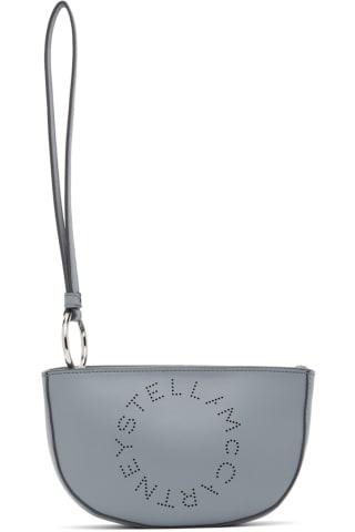 스텔라 맥카트니 Stella McCartney Blue Marlee Logo Clutch
