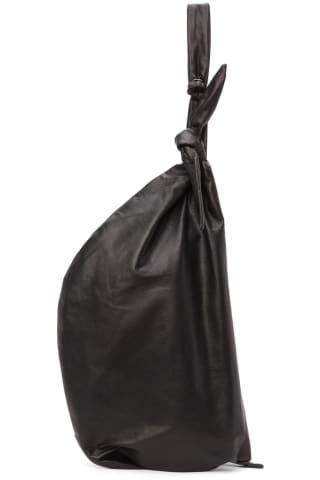 요지 야마모토 Yohji Yamamoto Black discord Crescent Bag