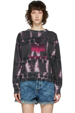 이자벨 마랑 에뚜왈 모빌리 맨투맨, 타이다이 Isabel Marant Etoile Purple Tie-Dye Mobyli Sweatshirt,Faded night