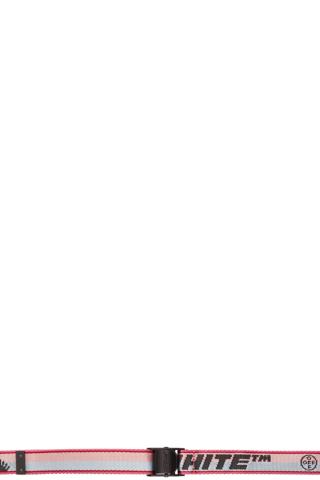 Off-White Pink New Logo Industrial Belt,Fuchsia