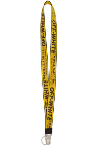 Off-White Yellow Classic Industrial Lanyard Keychain