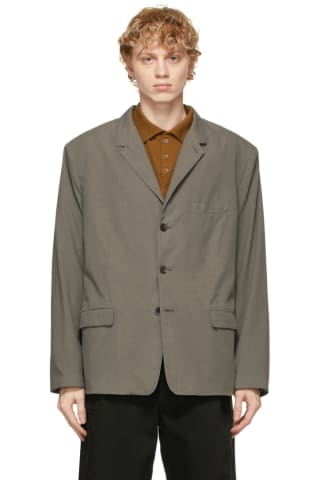 Lemaire Grey Ventile Soft Single Breasted Blazer