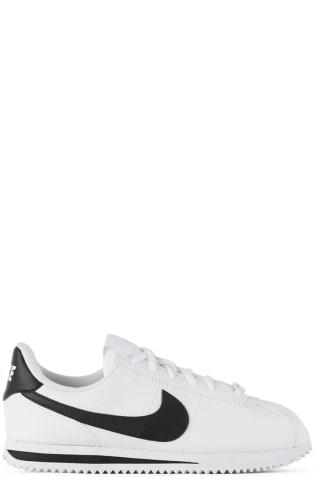 나이키 키즈 운동화 Nike Kids White & Black Cortez Basic SL Sneakers,White/Black