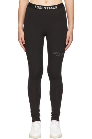 피어오브갓 에센셜 21FW 우먼 레깅스 Essentials Black Athletic Leggings