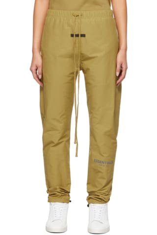 피어오브갓 에센셜 21FW 우먼 트랙 팬츠 Essentials Green Track Lounge Pants,Amber