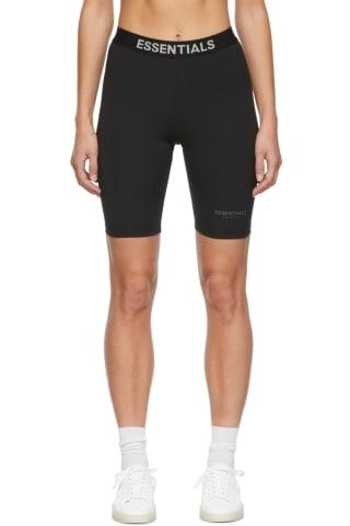 피어오브갓 에센셜 21FW 우먼 바이크 팬츠 Essentials Black Athletic Bike Shorts