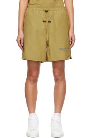 피어오브갓 에센셜 21FW 우먼 반바지 Essentials Green Volley Shorts,Amber