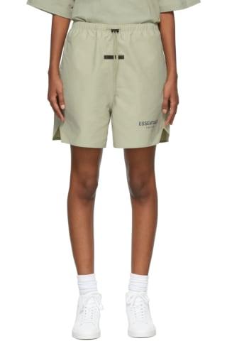 피어오브갓 에센셜 21FW 우먼 반바지 Essentials Khaki Volley Shorts,Pistachio