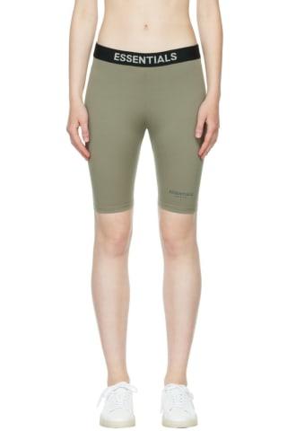 피어오브갓 에센셜 21FW 우먼 반바지 Essentials Grey Logo Lounge Shorts,Heather oatmeal