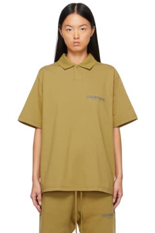 피어오브갓 에센셜 21FW 우먼 저지 폴로 Essentials Green Jersey Polo,Amber