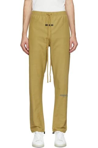 피어오브갓 에센셜 21FW 트랙 팬츠 Essentials Green Track Lounge Pants,Amber