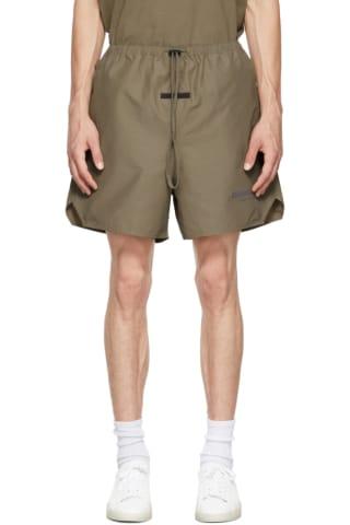 피어오브갓 에센셜 21FW 반바지 Essentials Taupe Volley Shorts,Harvest