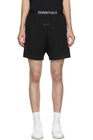 피어오브갓 에센셜 21FW 반바지 Essentials Black Lounge Shorts
