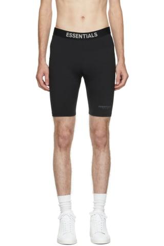 피어오브갓 에센셜 21FW 바이크 팬츠 Essentials Black Athletic Biker Shorts