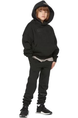 피어오브갓 에센셜 키즈 후드티 Essentials Kids Black Fleece Pullover Hoodie,Black