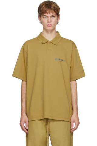 피어오브갓 에센셜 21FW 저지 폴로 Essentials Green Jersey Polo,Amber