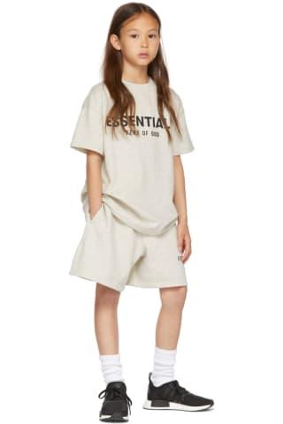피어오브갓 에센셜 키즈 티셔츠  Essentials Kids Grey Logo T-Shirt,Oatmeal
