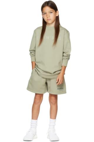 피어오브갓 에센셜 21FW 키즈 긴팔 티셔츠 Essentials Kids Khaki Logo Long Sleeve T-Shirt,Pistachio