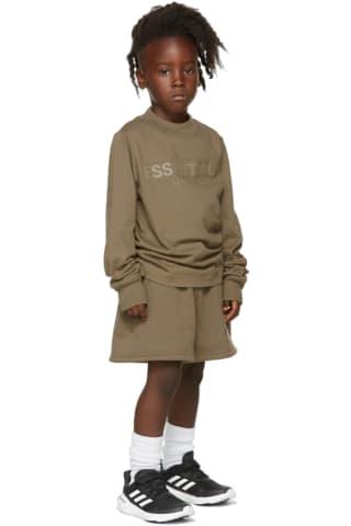 피어오브갓 에센셜 21FW 키즈 긴팔 티셔츠 Essentials Kids Taupe Logo Long Sleeve T-Shirt,Harvest