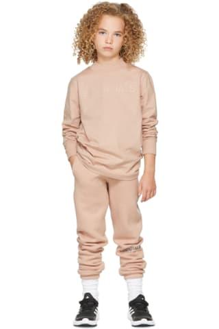 피어오브갓 에센셜 21FW 키즈 긴팔 티셔츠 Essentials Kids Pink Logo Long Sleeve T-Shirt,Matte blush