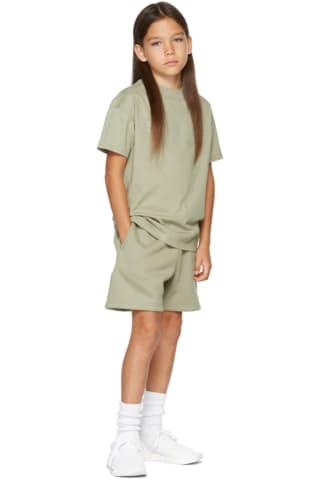 피어오브갓 에센셜 21FW 키즈 반팔 티셔츠 Essentials Kids Khaki Logo T-Shirt,Pistachio