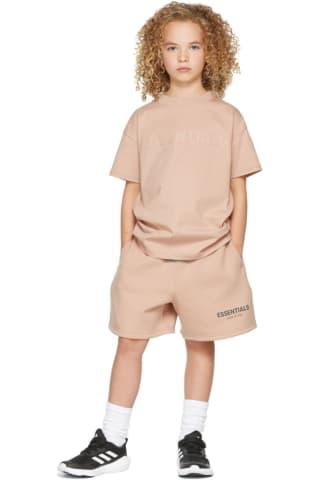 피어오브갓 에센셜 21FW 키즈 반팔 티셔츠 Essentials Kids Pink Logo T-Shirt,Matte blush