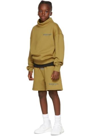 피어오브갓 에센셜 21FW 키즈 스웻셔츠 Essentials Kids Green Mock Neck Sweatshirt,Amber