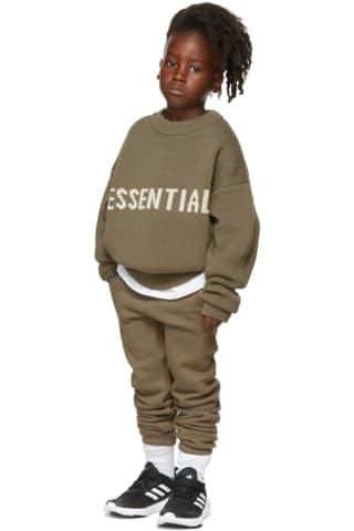 피어오브갓 에센셜 21FW 키즈 스웨터 Essentials Kids Taupe Knit Sweater,Harvest