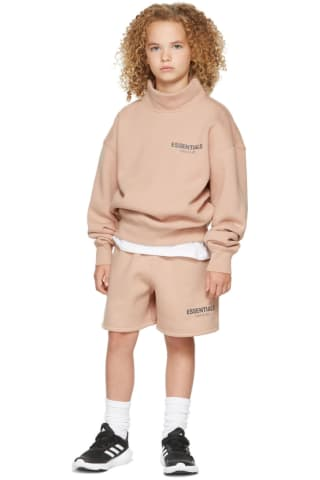 피어오브갓 에센셜 21FW 키즈 반바지 Essentials Kids Pink Fleece Shorts,Matte blush