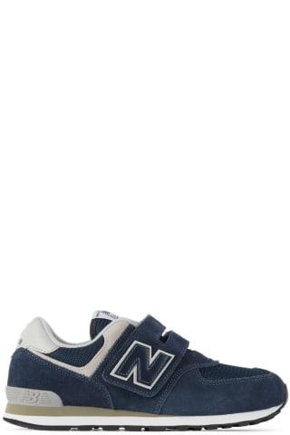 뉴발란스 키즈 운동화 New Balance Kids Navy & Grey 574 Core Sneakers,Navy/White