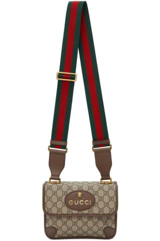 구찌 Gucci Beige Small Neo Vintage GG Supreme Bag,Brown
