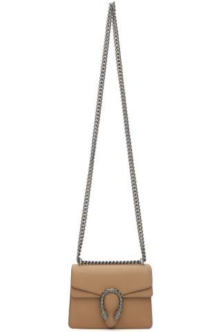 구찌 Gucci Tan Mini Dionysus Bag,Brown