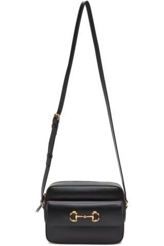 Black Small 구찌 Gucci 1955 Horsebit Bag,Nero